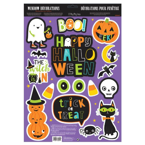 Hallo-Ween Friends Window Glitter Decorations